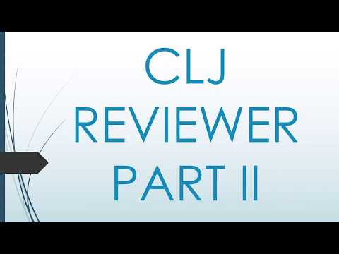 CRIMINOLOGY BOARD EXAM REVIEWER IN CLJ PART II YouTube