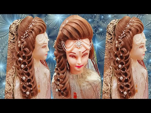 kashee's-bridal-hairstyles-|-front-layer-puff-hairstyles-step-by-step-|-pakistani-bride-hairstyles