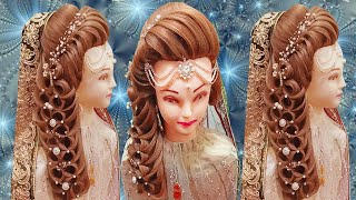 Kashee's Bridal Hairstyles | Front Layer Puff Hairstyles Step By Step | Pakistani Bride Hairstyles