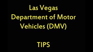 Tips for going to the Las Vegas Nevada DMV -- and how my day went - Bad Driver - drunk