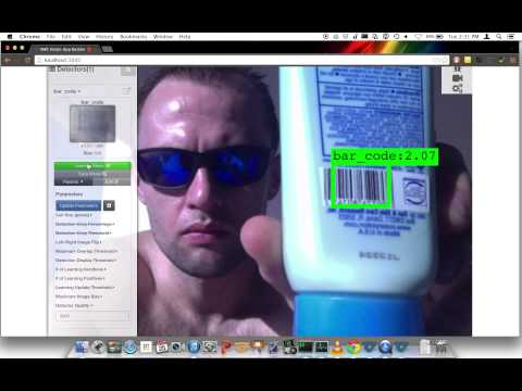 Barcodes: Realtime Training and Detection with VMX