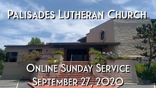 PLC Online Sunday Service 9.27.20