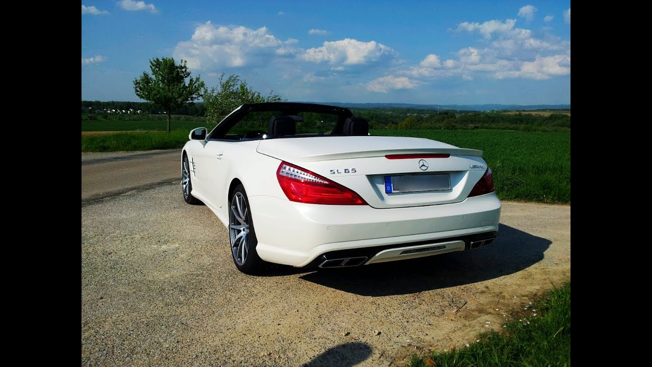 Mercedes SL 65 AMG V12 Biturbo SOUND 630 PS HD  YouTube