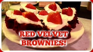 Red Velvet Brownies for Valentines Day!!
