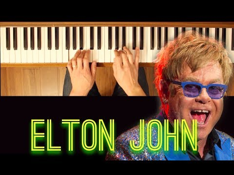 Crocodile Rock (Elton John) [Easy-Intermediate Piano Tutorial]
