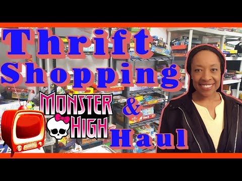 THRIFT SHOP HAUL - Tons of Monster High dolls, LEGO, Manga, Disney