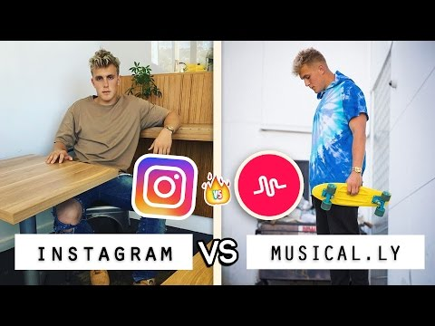 Jake Paul Instagram vs. Musical.ly Videos Battle / Who's the Best
