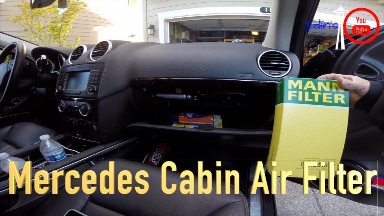 Mercedez Benz Gl Ml Cabin Air Filter Replacement 2007 2016