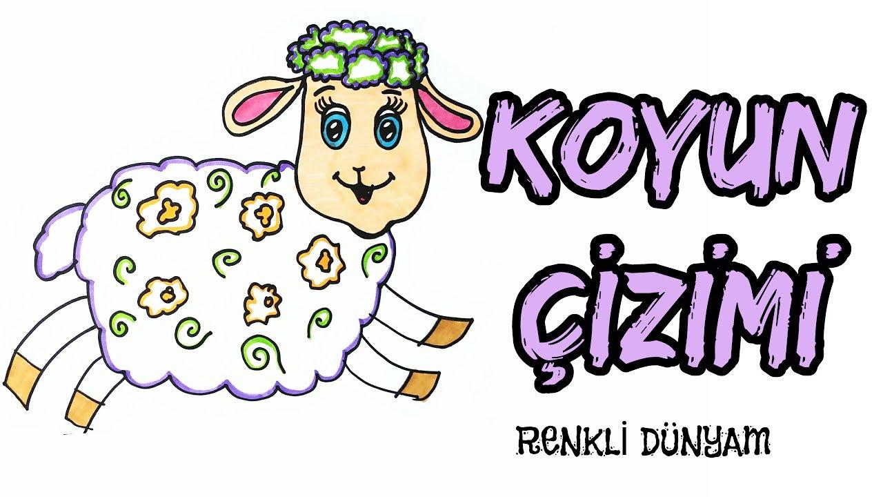 Koyun Nasil Cizilir Koyun Cizimi How To Draw A Sheep Renkli