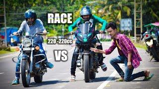 Pulsar 220 vs avenger 220 drag race