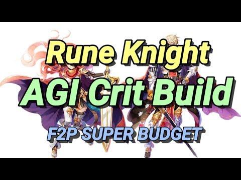 Rune Knight AGI CRIT Build (F2P SUPER BUDGET BUILD) Ragnarok Mobile