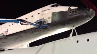 Spaceshuttle Endeavor At LAX Maintenance Hanger