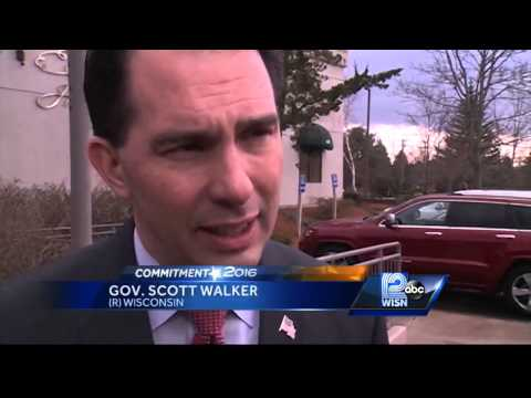 Gov. Scott Walker visits New Hampshire as Presidential decision looms