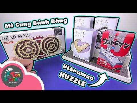 Giải 4 món một sao Huzzle tuyệt đẹp và bộ Gear Maze từ Hanayama ToyStation 593