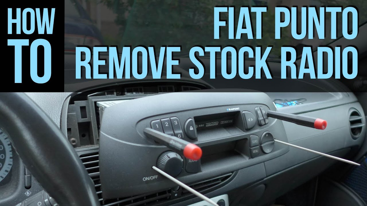 how to remove stock radio fiat punto youtube. Black Bedroom Furniture Sets. Home Design Ideas