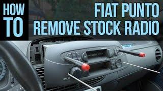 How to remove stock radio: Fiat Punto