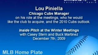 Lou Piniella, Cubs Manager, on his clubs