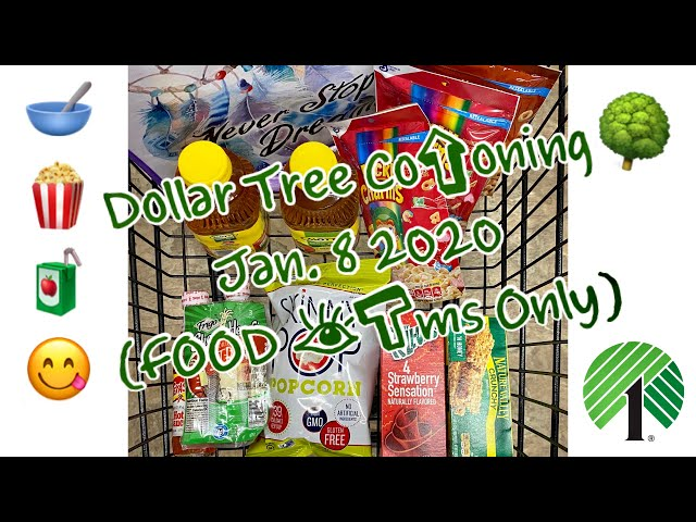 NEW ‼️ Dollar Tree ???? Coupon ???? Haul ???????? (FOOD ITEMS ONLY????????????)   Jan 2020