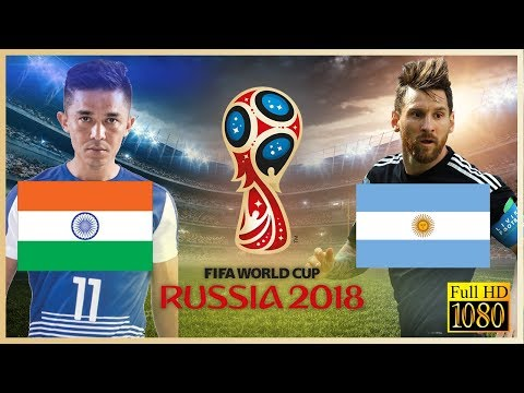 INDIA Vs ARGENTINA | Sunil CHHETRI Vs Leo MESSI | FIFA WORLD CUP