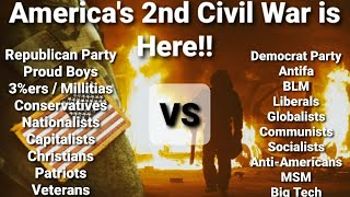 "🌟Must Watch🌟 ""The 2nd American Civil War is Here!!"" Which Side Are You?! 🇺🇸 Compilation/Documentary🔥"