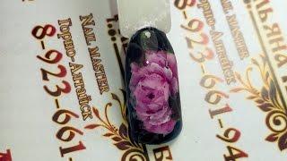 Мастер-класс: Китайская роспись - Пионовидная роза | Простые хитрости | Ульяна Лобыня