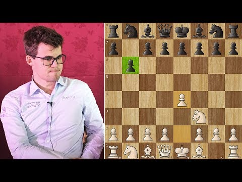 Carlsen Shows How to Crush a Super GM with 1...b6