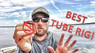 Gambar cover PROS DON'T WANT YOU TO KNOW this TUBE RIG! How to rig STUPID TUBE for Smallmouth Bass & Largies!