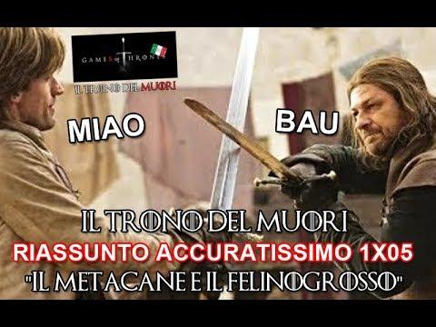 RECENSIONE GAME OF THRONES 1x05 RIASSUNTO ACCURATISSIMO 'IL METACANE E IL FELINOGROSSOH