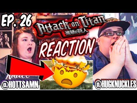 """Attack on Titan Episode 26 """"Beast Titan"""" (2x1) REACTION!!"""