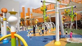 Brush Brush Brush Badanamu, Outdoor Splash Pad Playground Fun for Children in Singapore Mall