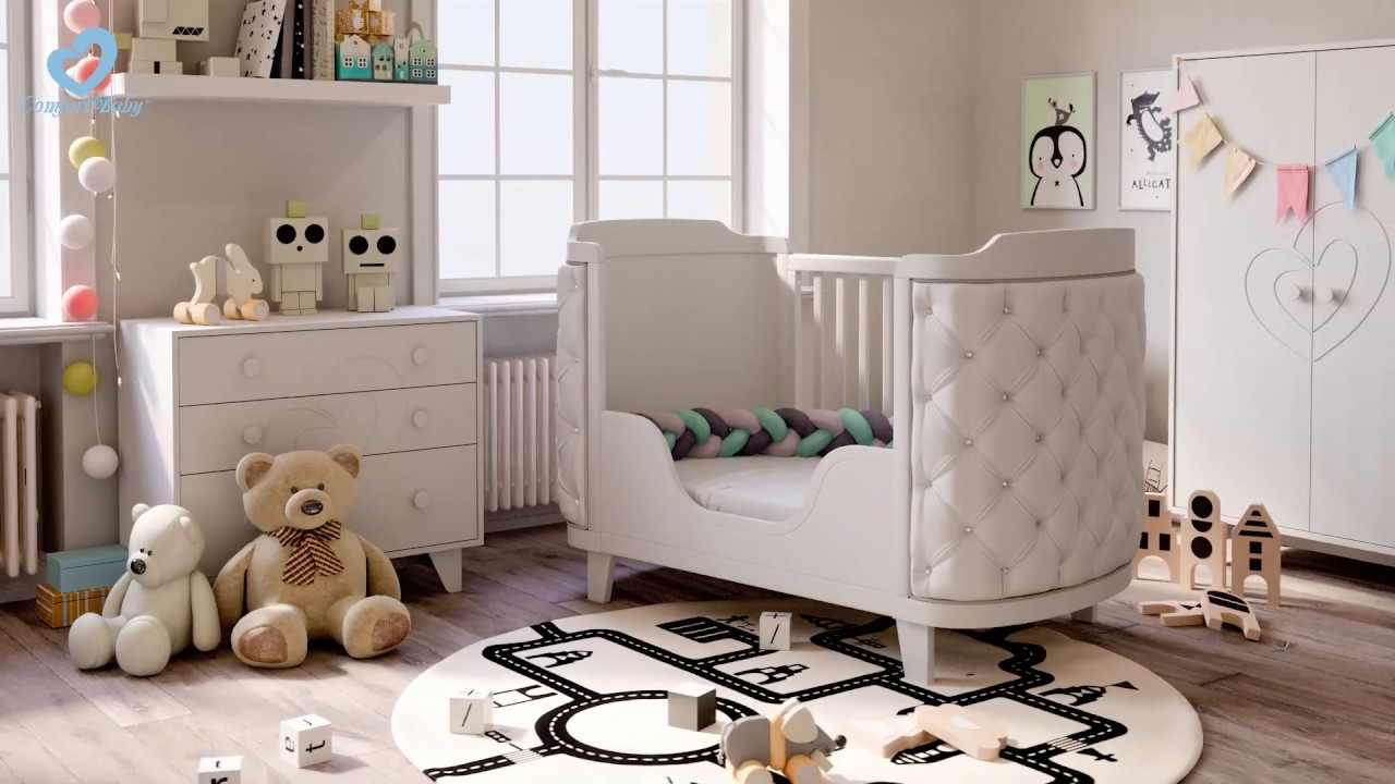 ComfortBaby ® RoyalDream 4in1 Babycrib - Grows With Your Child For Upt To 10 Years - YouTube