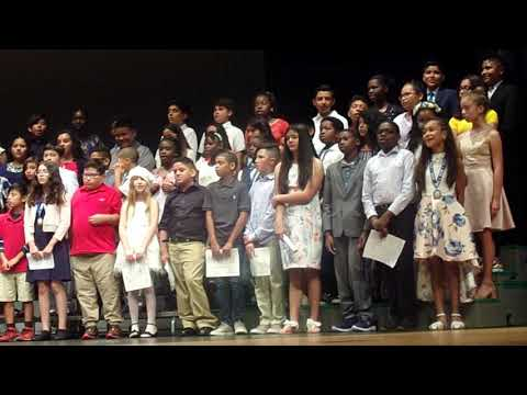 """Golden Terrace Elementary School 5th Grade Graduation 2019 """"Count on me like 1, 2, 3 I'll be there"""""""