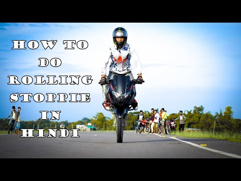 How To Do Rolling Stoppie In Hindi || Bike Rolling Stoppie ||