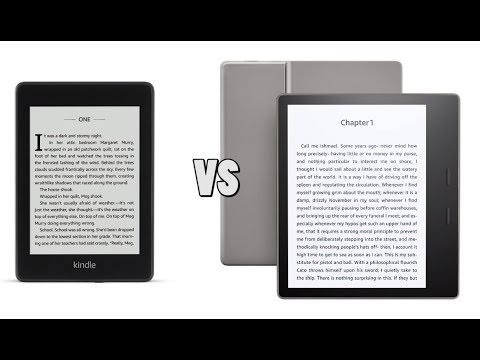 Amazon Kindle Paperwhite 4 vs Amazon Kindle Oasis 2