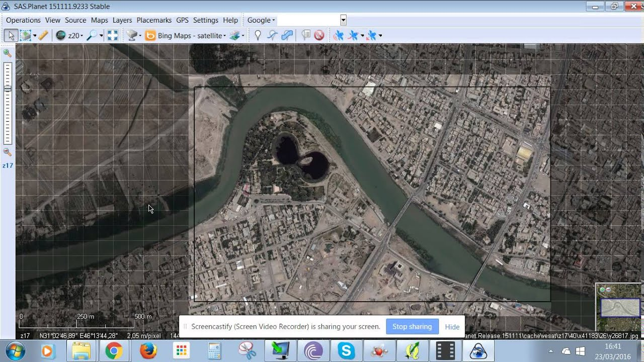 SAS PLANET how to download satellite images free