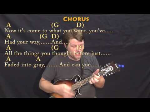 Amie (Pure Prairie League) Mandolin Cover Lesson in A with Chords/Lyrics