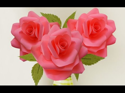 Home Decoration Idea Wedding Paper Roses Craft