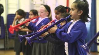 British international trumpet star visits Sandwell school