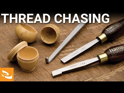 Hand Thread Chasing with Allan Batty (Woodturning How-to)