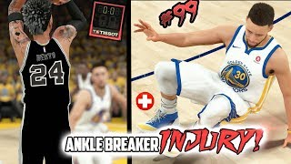 DOWN TO THE LAST SHOT! STEPH CURRY ANKLE BREAKER INJURY!! NBA 2k18 MyCAREER Ep. 99