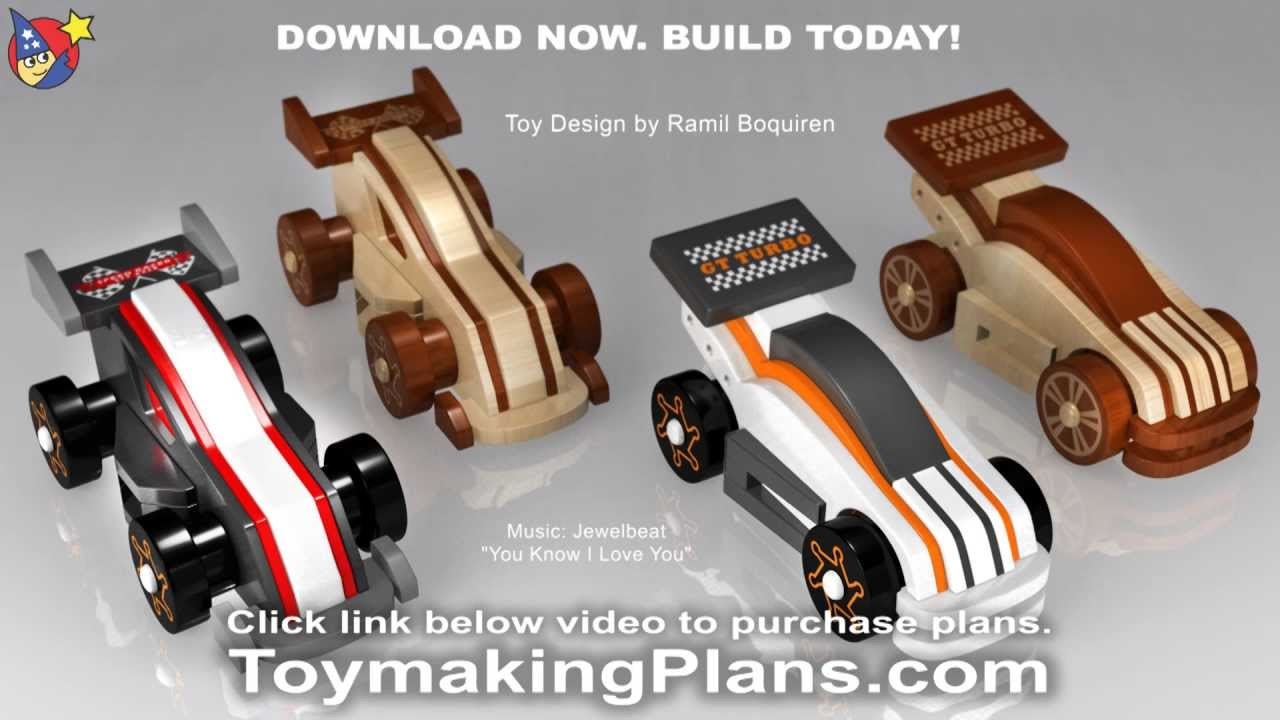 wood toy plans - wild & rugged gt race cars