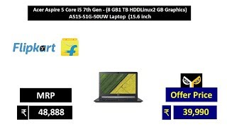 Acer Aspire 5 Core i5 7th Gen - (8 GB1 TB HDDLinux2 GB Graphics) A515-51G-50UW Laptop  (15.6 inch