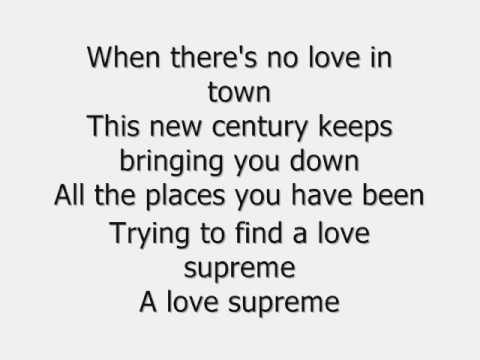 Robbie Williams-Love Supreme Lyrics