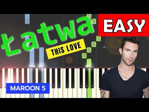 🎹 This Love (Maroon 5) - Piano Tutorial (łatwa wersja) (EASY) 🎹
