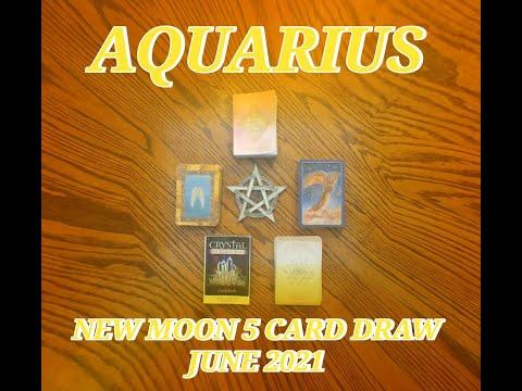AQUARIUS: PROSPERITY & SPIRITUAL GROWTH BY ANCHORING THE LIGHT: NEW MOON 5 CARD READ JUNE 2021