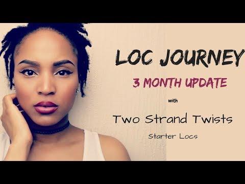 3 MONTH LOC UPDATE w/ TWO STRAND TWIST STARTER LOCS : KIESHA ARIELLE