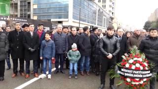 26.02.2015  Müsavat Partiyası Xocali abidəsini ziyarət etdi