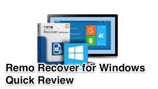 Remo Recover File Recovery Software for Windows Quick Review