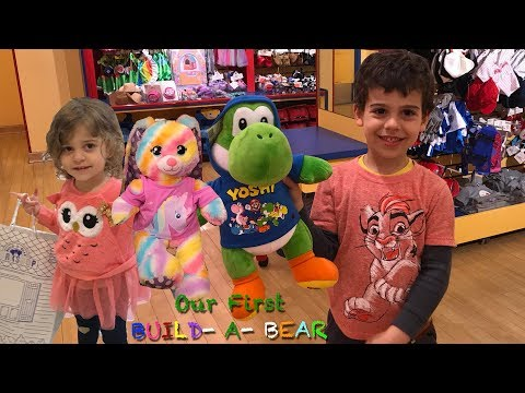 We Built YOSHI And The Easter Bunny At BUILD A BEAR! Our First BUILD A BEAR WORKSHOP