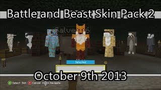 Minecraft Xbox 360 - Battle and Beasts Skin Pack #2 is Here! (October 9th 2013)
